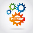 Stock Vector: Industry gears