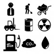 Work icons — Stock Vector #27091289