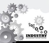 Industry gears — Stock Vector