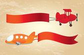 Advertising planes — Stock Vector