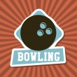 Bowling label  — Stock Vector