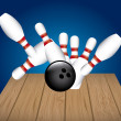 Bowling alley — Stock Vector