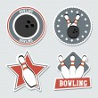 Bowling labels — Stock Vector