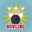 Stock Vector: Bowling design