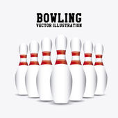 Pins bowling — Stock Vector