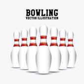 Pins bowling — Stock Vector