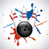 Bowling splash — Stock Vector
