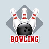 Bowling label — Vettoriale Stock