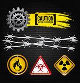 Diseño de precaución — Vector de stock