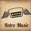 Retro music — Stok Vektör