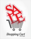 Shopping cart design — Stock Vector