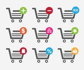 Cart shopping design — Stock Vector