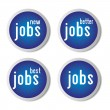 Jobs icons — Stock Vector