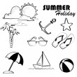 Summer holiday — Stockvektor