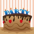 Stock Vector: Cake party