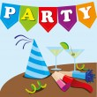 Party design — Stockvectorbeeld