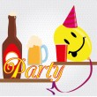 Stock Vector: Party funy
