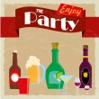 Party label — Image vectorielle