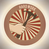 Hard work design — Stock Vector