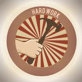 Hard work design — Stock Vector