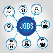Jobs design — Stock Vector