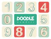 Doodle numbers — Stock Vector