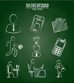 ícones de negócios — Vetorial Stock