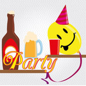 Party funy — Stock Vector