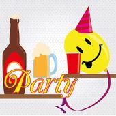 Parti funy — Stockvektor