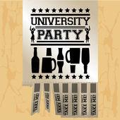 University party — Stock Vector