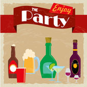 Party label — Stock Vector