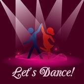 Permite que a dança — Vetorial Stock