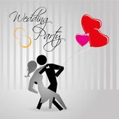 Wedding party — Vector de stock