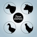 Farm animals — Stock Vector #27331225