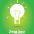 Green idea — Stock Vector