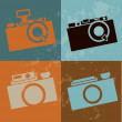 Camera design — Stock Vector