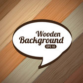 Wooden — Vector de stock