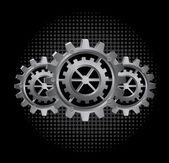 Diseño de engranajes — Vector de stock