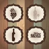 Wine frames — Stock Vector