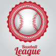 Stock Vector: Baseball league