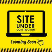 Site under construction — Stock Vector