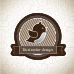 Bird label — Stock Vector #27460661