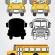 Bus icons — Grafika wektorowa