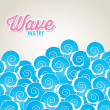 Wave water — Stock Vector