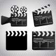 Stock Vector: Movie film