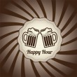 Vector de stock : Happy hour
