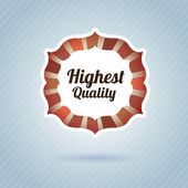 Highest quality — Stock Vector