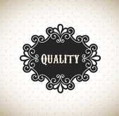 Quality frame — Stock Vector