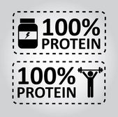 Protein labels — Stock Vector