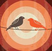 Disegno uccelli — Vettoriale Stock